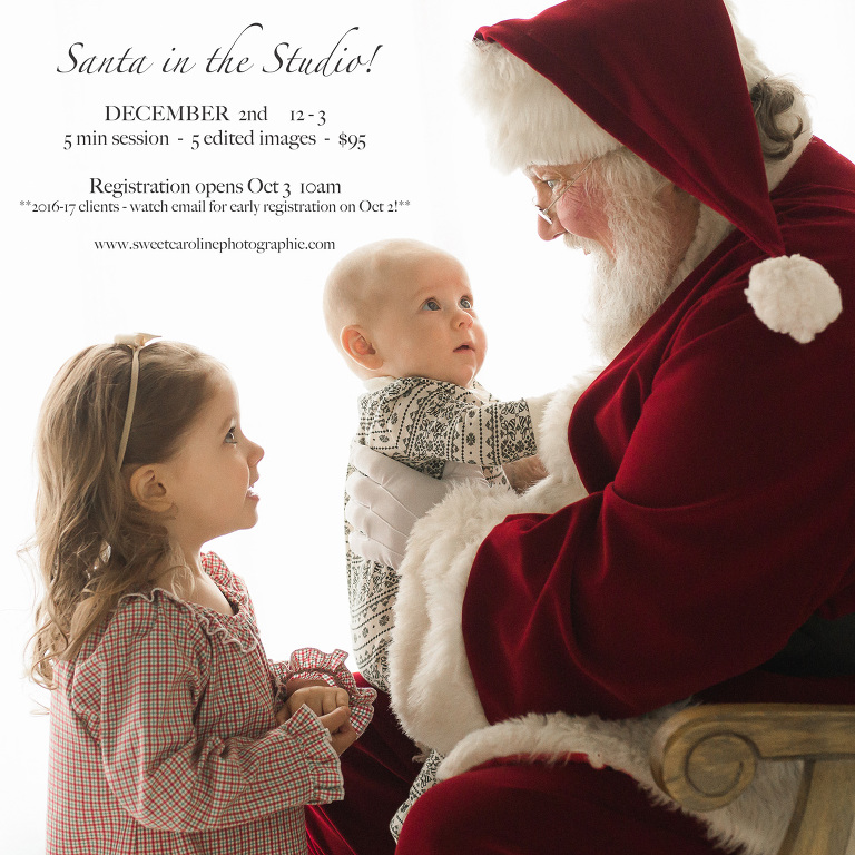 Sweet Caroline Photographie | Santa Studio Sessions 2017
